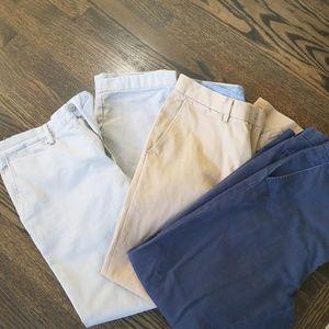 Three Pairs of Men's Dress Pants